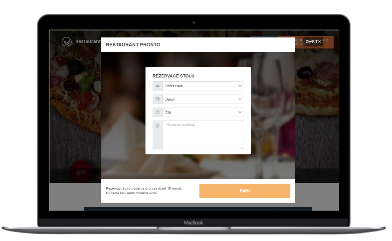 Online rezervace stolů